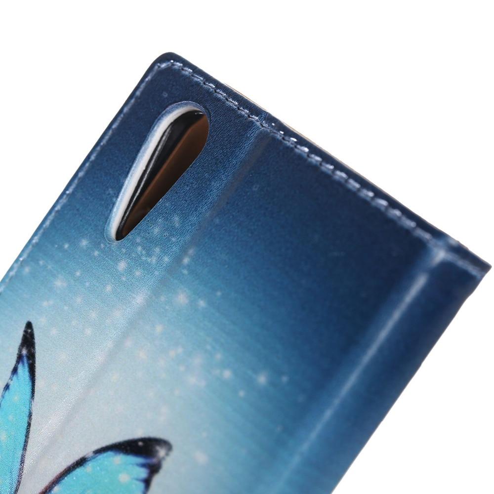 Para lenovo a6000 case. mariposa azul estilo de la carpeta magnética cubierta del soporte de cuero para lenovo k3 k30-t k30-w del tirón las cajas del teléfono