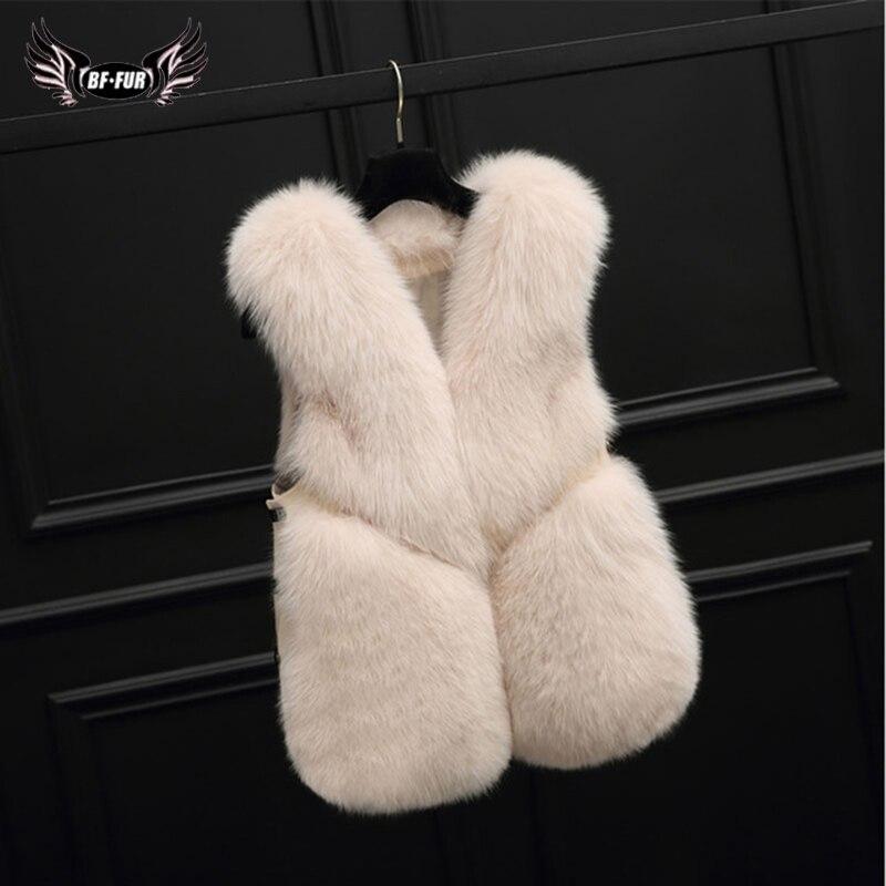 Роскошный жилет из лисьего меха 55 см, модное женское пальто из натурального меха, Модная Тонкая зимняя теплая короткая куртка с натуральным