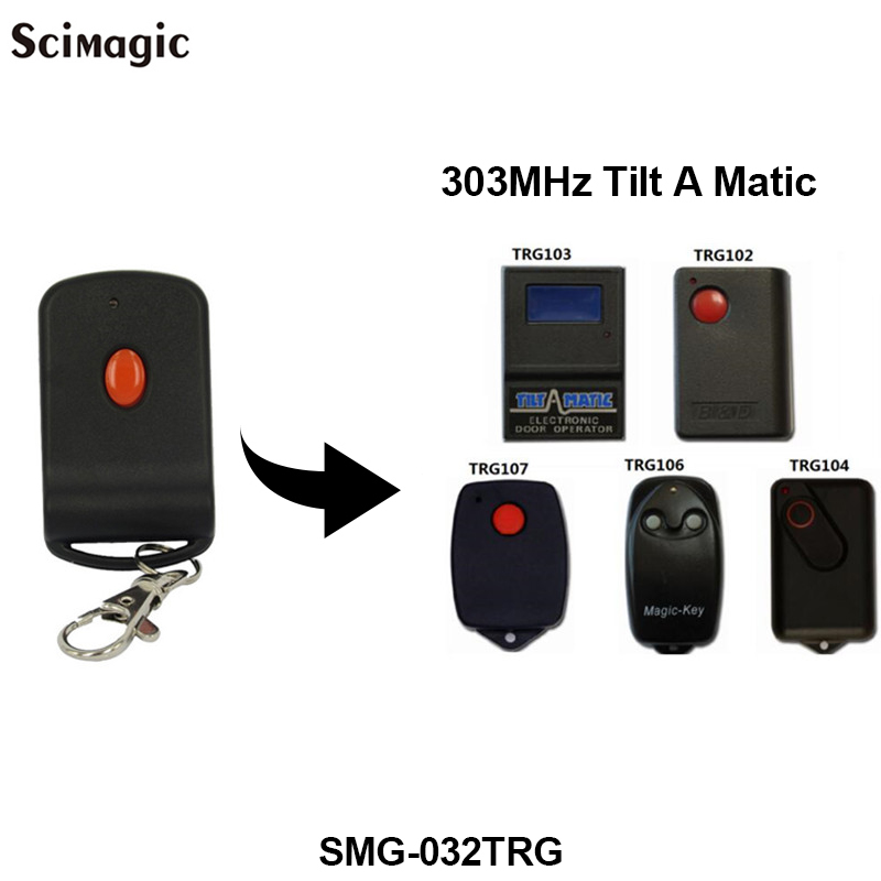 1 Button 303 MHZ Garage Door Remote Key For Doormate 700T TRG300/306 TR300 TRV300/303 TRG107 TiltAMatic