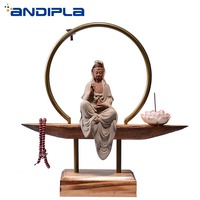 Creative Home Bedroom Aroma Burners Chinese Style Zen Buddha Incense Burners Backflow Incense Base Stick Holder Lucky Decoration