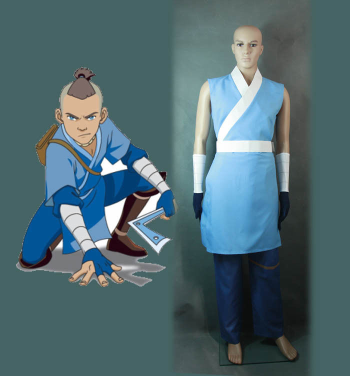 avatar the last airbander sokka cosplay costume halloween outfit in