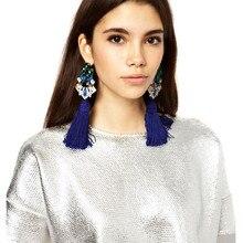 Dvacaman Brand Luxury Crystal Drop Earrings Women Long Tassel Drop Fringes Earrings Female Party Statement Jewelry Earrings HH40