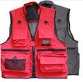 2016 New  Multi-Pocket Men Vest Men's Waistcoat Vest Photography Coats Plus Size