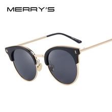MERRY'S Fashion Sunglasses Women/Men Vintage Classic Brand Designer Sun glasses Polarized Luxury Cat Eye Oculos De Sol S'8038