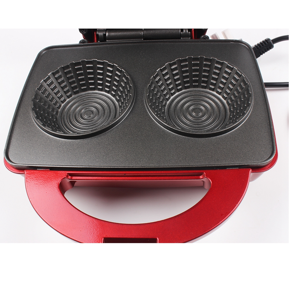 Nonstick Waffle Maker Bowl Machine With Double Sided Heating For Making Ice Cream And Cake 1