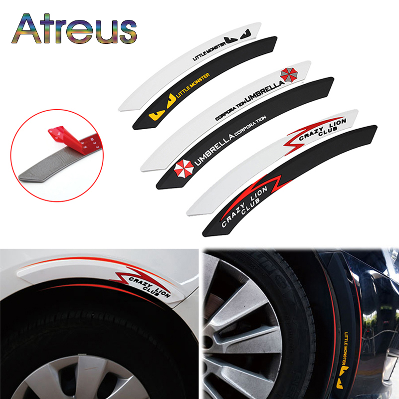 Atreus Car Wheel eyebrow decorative Anti-collision Strip Sticker for Citroen C4 C5 Hyundai Solaris I30 VW Polo T5 Ford Fiesta ...