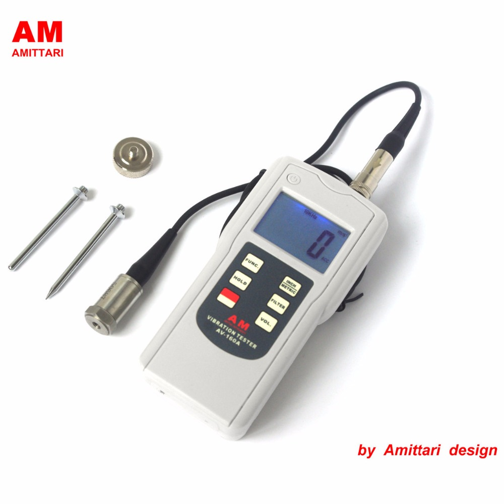 все цены на Genuine Brand AMITTARI Vibration Tester Meter Analyzer Bearing condition monitoring 10-10KHz AC output USB BLUETOOTH RS232
