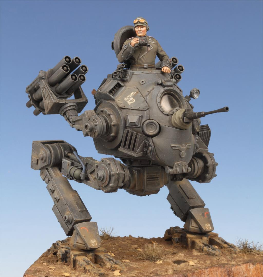 1:35 WWII Sci-fi German Army 2 Tanks (excluding transparent parts, but including internal gear)
