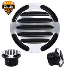 Finned motorcycle Fuel Gas Tank Oil Cap Cover For Harley Touring FXD FLHR FLHT FXST Sportster
