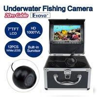 Eyoyo Original 20m Underwater Fishing Camera HD 1000TVL Video Camera Fish Finder 7 Inch LCD Color
