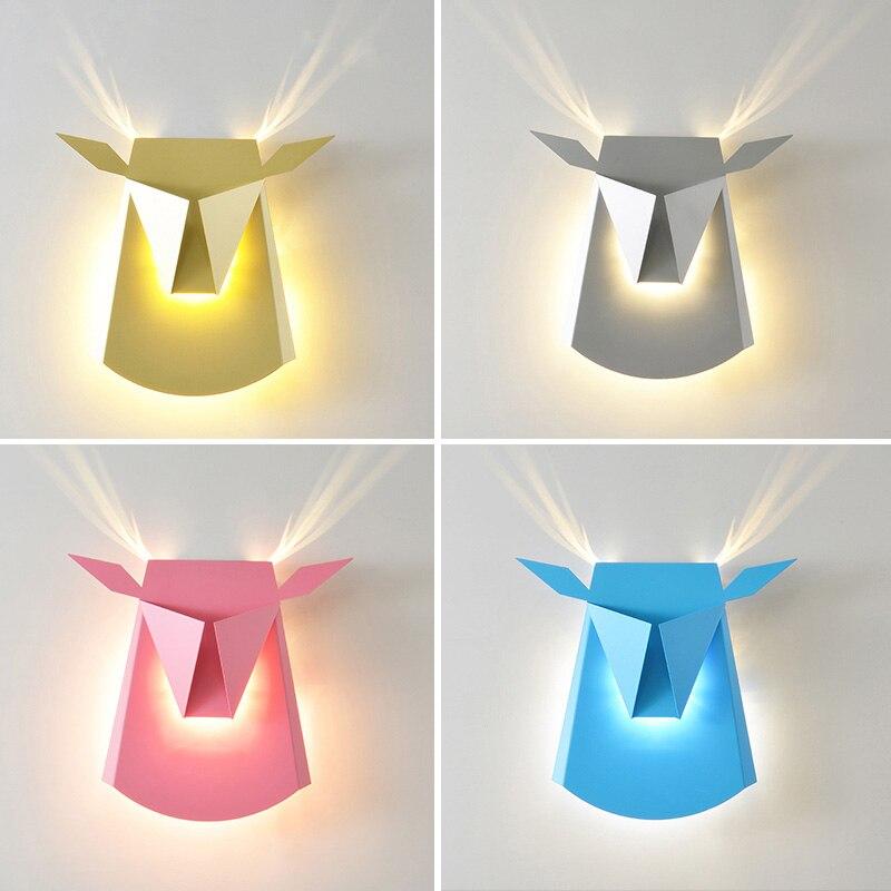 купить Individuality deer head LED wall lamp modern and fashion wall lights creative wall lighting for living room bed room corrido по цене 5439.76 рублей