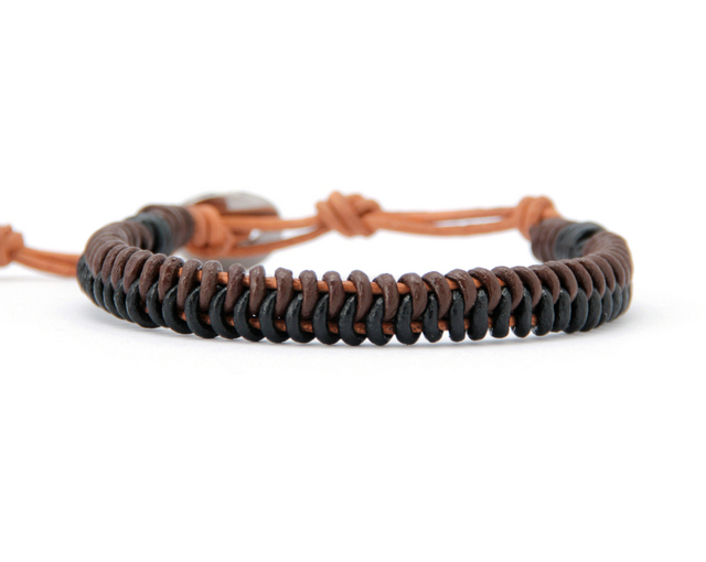 Men Leather Bracelets Genuine Braided Bracelet Handmade Steampuk Mens Personalized Gifts