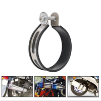 Motorcycle Exhaust Pipe Muffler Holder Clamp Fixed Ring Support Bracket 100mm Diameter Stainless Steel