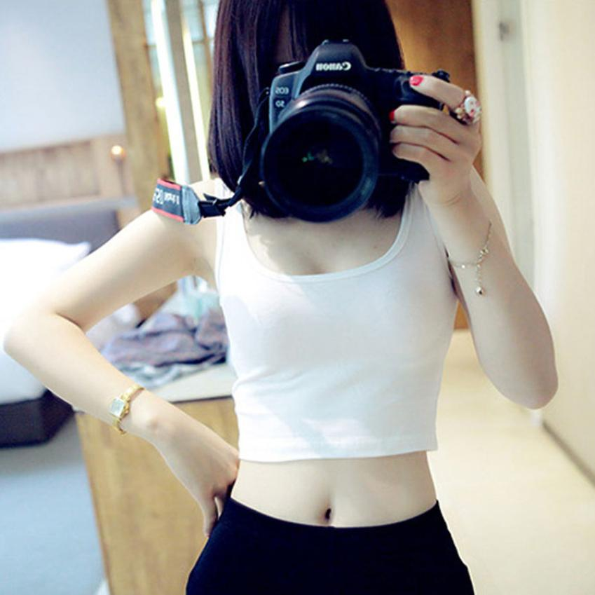 2018 Female Sexy Backless Summer  Vest Slim Women Tanks Tops Camisole solid Women's T Shirt Elastic Camiseta Tirantes Mujer