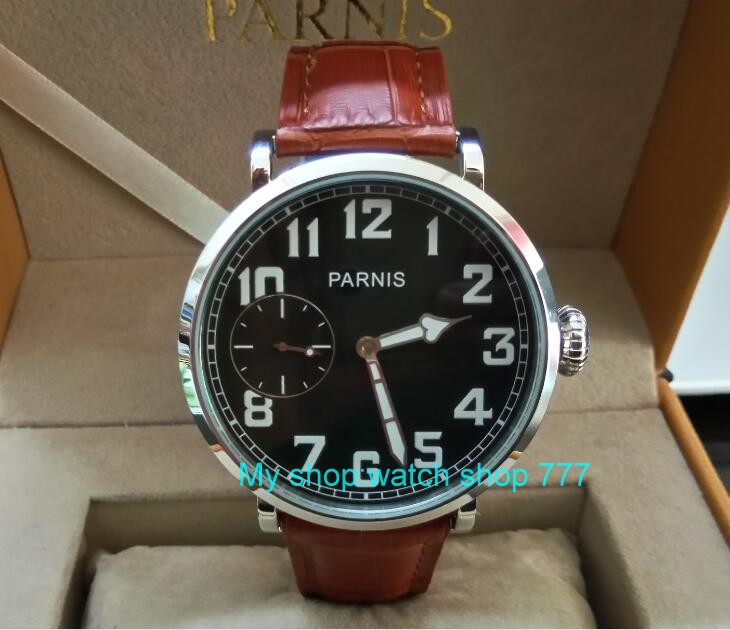 46mm parnis Black dial Asian 6497 17 jewels Mechanical Hand Wind movement men watch luminous Mechanical watches zdgd238A 46mm parnis black dial asian 6497 17 jewels mechanical hand wind movement men watch luminous mechanical watches zdgd60a