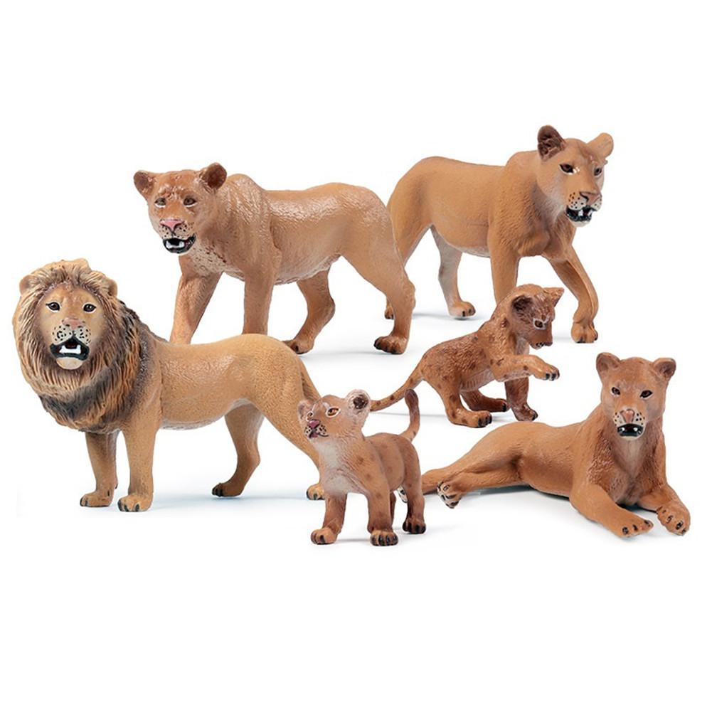 LeadingStar Simulate Wild Animal Lion Shape Modeling Toy for Kids Home Room Decor