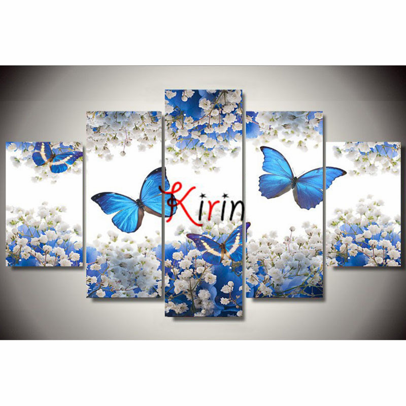 5d diy Diamond embroidery butterfly flower diamond painting Cross Stitch full drill Rhinestone mosaic Multi picture_