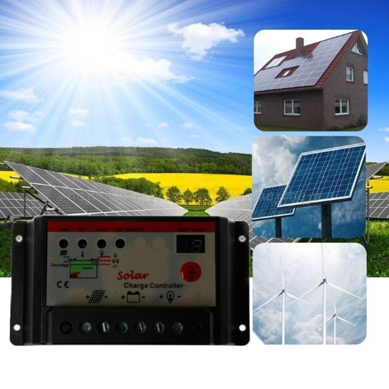 10A 20A 30A 12V/24V solar charge controller,solar regulator for solar panel system use,double LED light display JUL04