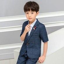 2019 summer new boy suit children  handsome british played with short sleeves Fashion children clothes Boys kids costume ALI 282 недорого