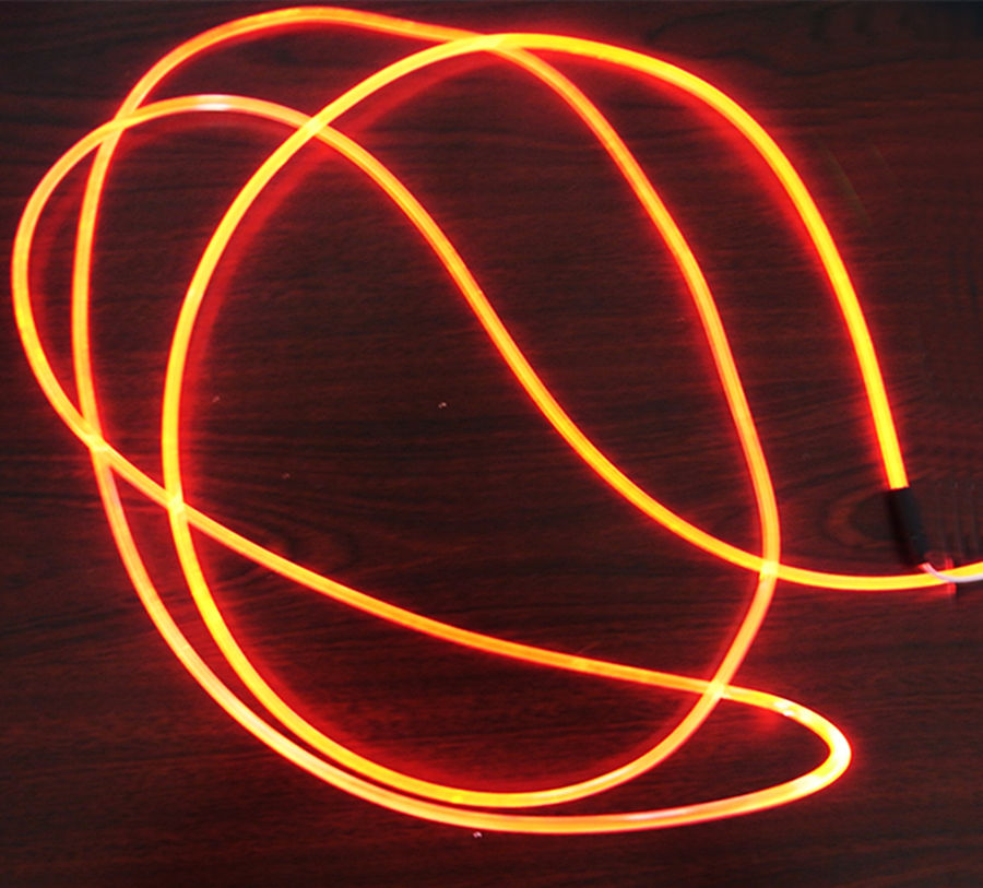 2mm Solid Core Side Glow Fiber Optic Light-kabel Sidosändande optisk Fiber-belysning