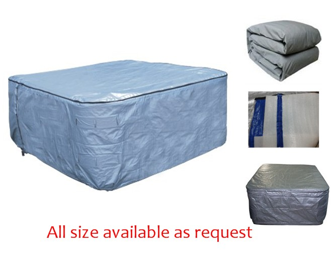 hot tub Pool spa cover UV insulated bag 2130x2130x900mm 2440x2440x900mm 2100 Diameter Round spa Insulated UV cover bag