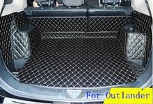 AA Personnalisé Spécial Tronc Tapis Pour Mitsubishi Outlander 5 sièges Durable Étanche Bagages Tapis Pour Outlander