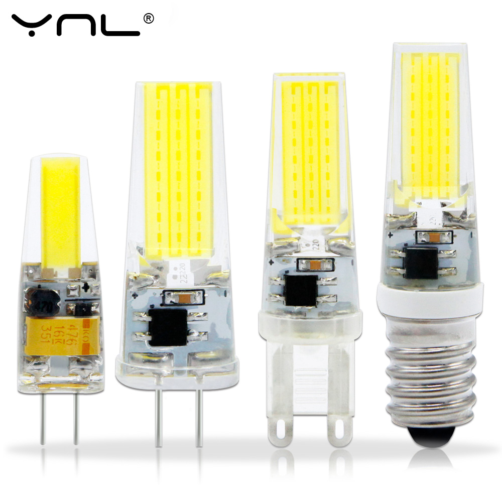 YNL Bombillas LED Bulb G9 G4 E14 220V Lampada LED Lamp G4 AC DC 12V COB Lights Replace 30W Halogen ynl lampada led g4 lamp ac 220v 3w 4w 5w dc 12v g4 led bulb smd3014 2835 24 48 64 replace 10w 30w halogen spotlight chandelier