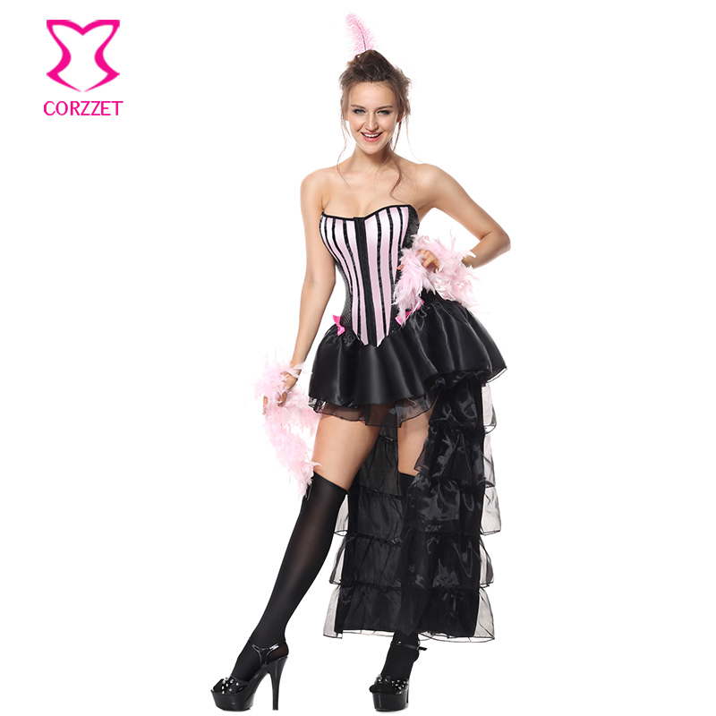 corzzet sexy overbust corset dress burlesque halloween costume for women cospaly dancing performance carnival party costume - Corsets Halloween Costumes