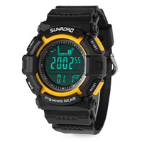 Sunroad Digital LED Watch Men SFR713A Multifunctional Sports Military Digital Watch Altimeter Fishing Barometer Wristwatch Wate