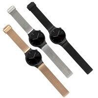Milanese boucle bande de montre en acier inoxydable maille bracelet pour huawei Watch bande Snap fermoir bracelet Pour Huawei Smart Montre