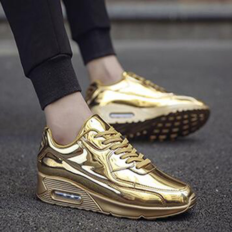 2017 Brand Superstar Men Casual Shoes Air Glossy Gold Running Shoes Fashion Outdoor Breathable Durable Wedges Platform Shoes  fashion designer famous brand air mesh glossy men casual shoes summer outdoor breathable durable lace up unisex fashion shoes