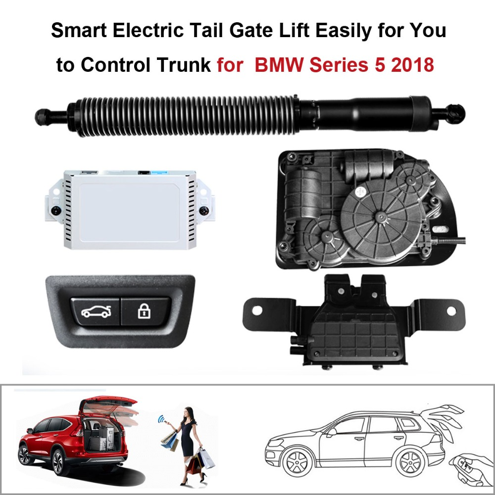 Smart Auto Electric Tail Gate Lift For BMW 5 Series 2017-2018 Remote Control Set Height Avoid Pinch Suction Function