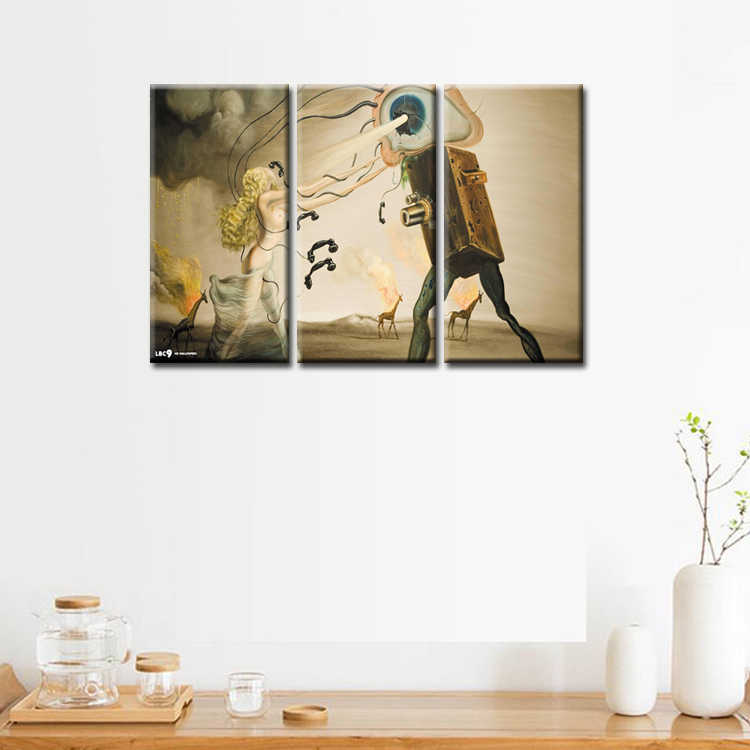 3 Pieces/set Abstract poster series Canvas Painting living room Room Decoration Print Canvas Pictures Framed/Abstract (66)