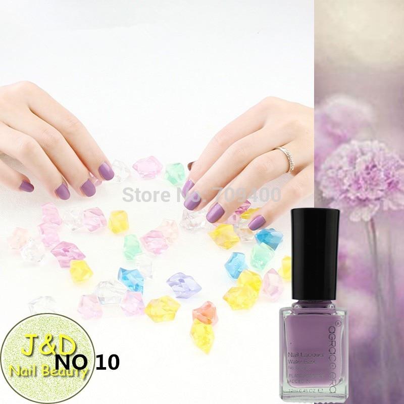 FOREVERJASMINE 10PCS Light Purple Nail Polish Lavender Nail Varnish ...