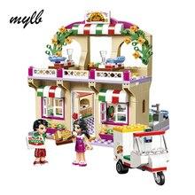 mylb Princess Girl Good Friend Series Restaurant Series Pizza Toys For Children Educational Building Blocks