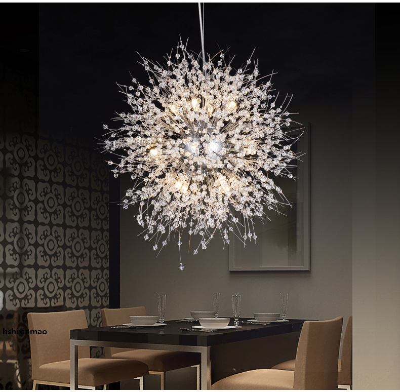 Modern Dandelion Led Chandelier Home Commercial Kitchen Bedroom Living Room Restaurant Elegant Lighting Fixtures In Pendant Lights From