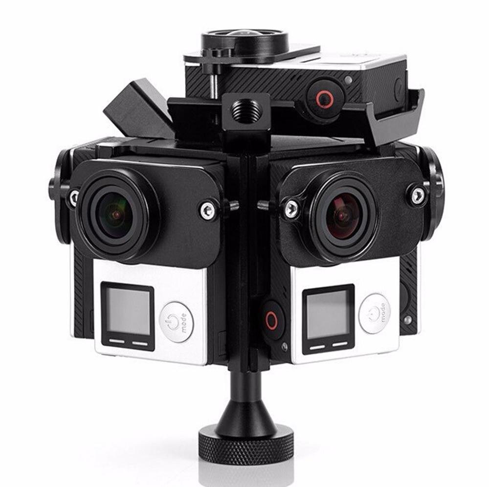 360 Degree VR Panoramic Rig Bracket Frame Spherical  mount 6 case for GoPro 3/3+/4 Sport Camera HD Shoot Aerial Photography korres