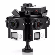 Aerial 360 Degree VR Panoramic Rig Bracket Frames Spherical mount drone 6 GoPro 3/3+/4 Sport Camera HD Shot Photography skeleton