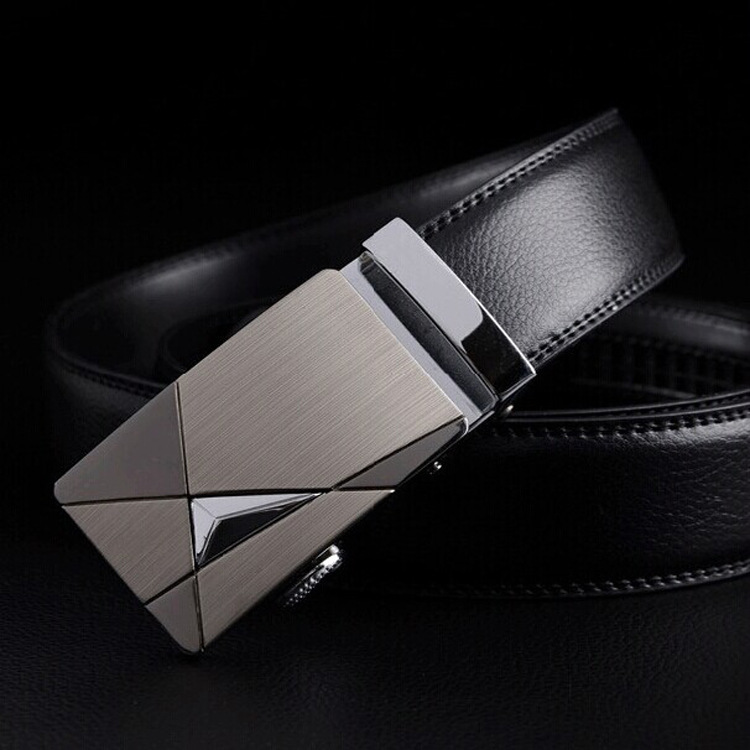 New Black   Belts   Men High Quality Leather Luxury Leather   Belts   for Men Strap Metal Automatic Buckle Male Fashion   Belts