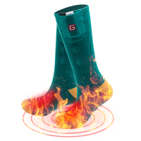Seven Colors Optional Soft Thicken Soft Men Women 3 7V Cotton Heated Socks For Warming Cold