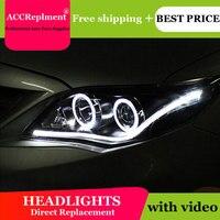 Auto Lighting Стиль светодиодный фара для Toyota Corolla светодиодный фары 2011 Альтис Ангел глаз светодиодный drl H7 hid би ксеноновые линзы ближнего света