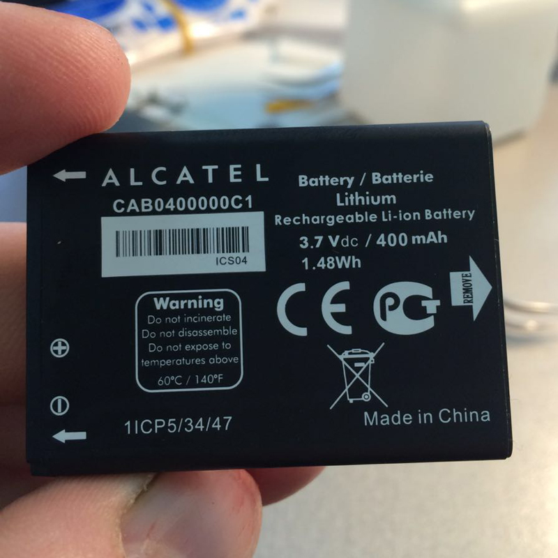 LCD Universal Battery Charger Adapter For ALCATEL Chrome OT-800 OT-800A