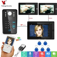 YobangSecurity Wifi Wireless Video Door Phone Doorbell Camera Intercom RFID Password With 3X 7Inch Monitor 2
