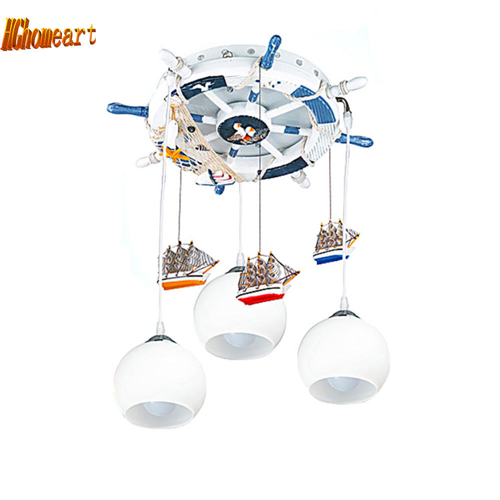 Hghomeart cartoon Mediterranean Led modern lighting chandeliers baby room Led chandelier ceiling kids 110V 220V Led chandelier hghomeart creative cartoon chandeliers led crystal chandelier kids room luminarias wrought iron lamp lustre suspension