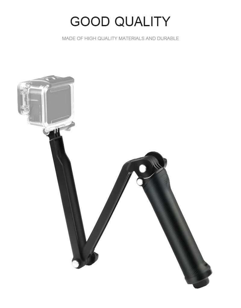 Gopro Accessories Tripod 3 Way Monopod Mount Extension Arm Tripod for Gopro Hero 6 5 4 3+ for xiaomi yi SJ4000 VP404 (1)