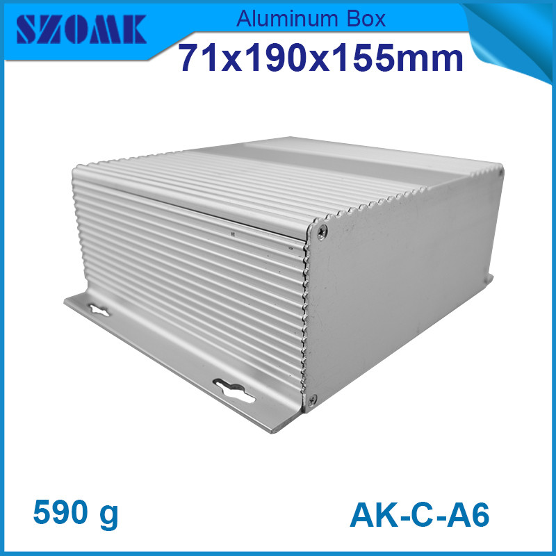 4 pieces heatsink aluminum cabinet electronics outlet case Electronic project box case aluminum pcb enclosure