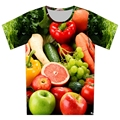 Plus Size XS-6XL 2016 Summer New Fashion Cool Fruit Flowers Print t shirt Women/Men Printing Short Sleeve t shirts Tops Tees