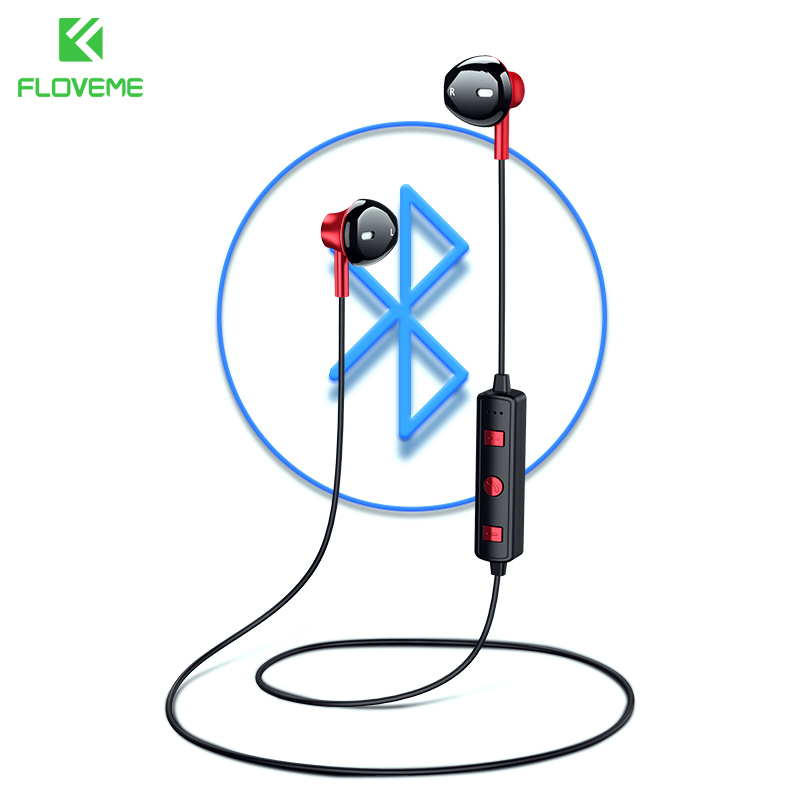FLOVEME B11 Bluetooth Earphone For iphone Hifi Stereo Sound Neckband Earpiece With Microphone Wireless Headphones For Xiaomi