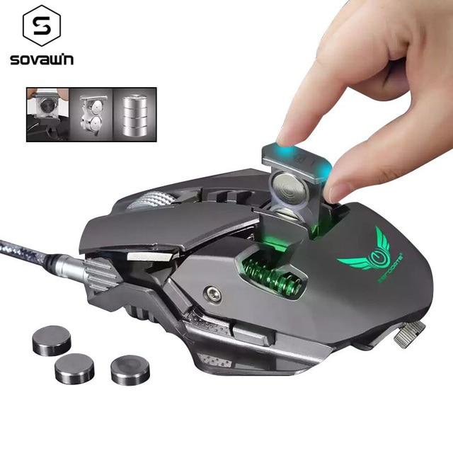 Ratón Gaming G9 con cable, USB DPI, Macro ajustable, programable, profesional, óptico, RGB, para juegos de ordenador