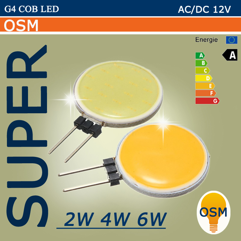 2016 NEW Cob g4 led 12V LED Bulbs 2W 4W 6W LED G4 COB lamp Replace ...
